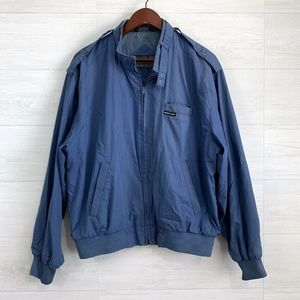VTG Members Only Blue Zip Up Bomber Jacket